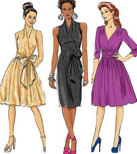 sewing pattern wrap dress butterick sewing pattern misses wrap dress with plus size