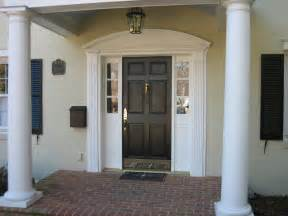Front Door Trim Ideas Decoration Ideas Awesome Curved Pediment Front Door Trim With Sweet Pilaster With