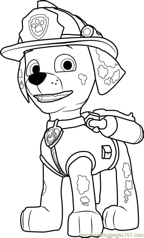 paw patrol coloring pages marshall coloring pages ideas