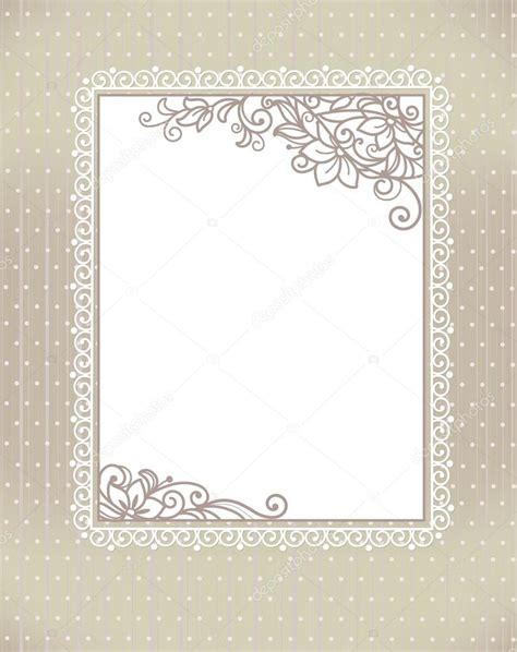 picture frame birth day card template template frame design for greeting card stock vector