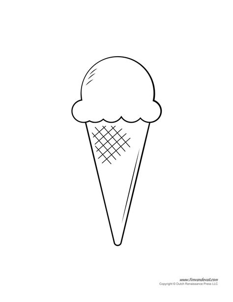 ice cream cone stencil pictures to pin on pinterest