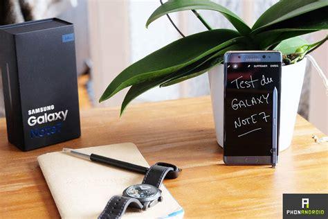 samsung galaxy test test du samsung galaxy note 7 une explosion de saveurs