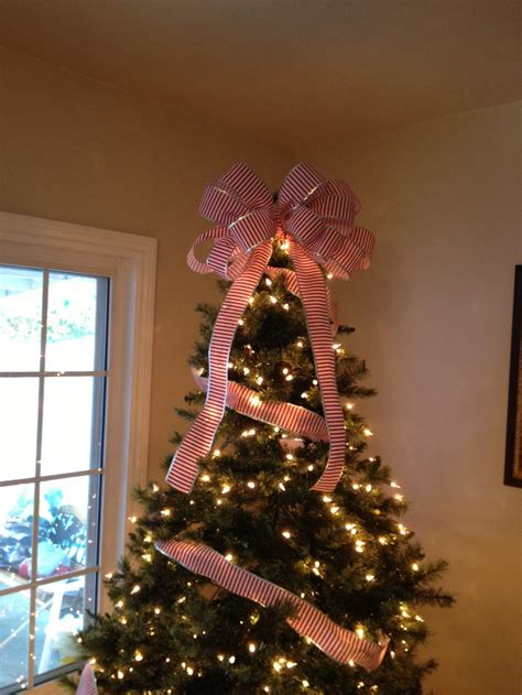bow tree topper diy tis the season pinterest