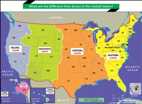 What Are The Different Times Zones In The United States