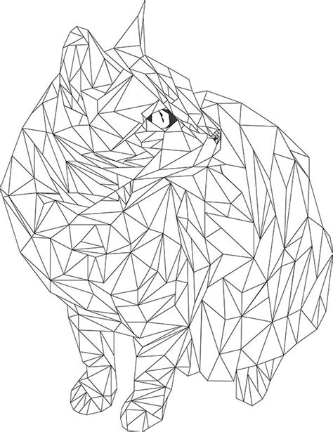 geometric cat coloring page 131 best comics and else images on pinterest drawings