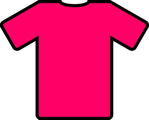 pink t shirt clip art at clker com vector clip art