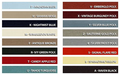 1966 mustang color chart 1966 mustang color chart autos post