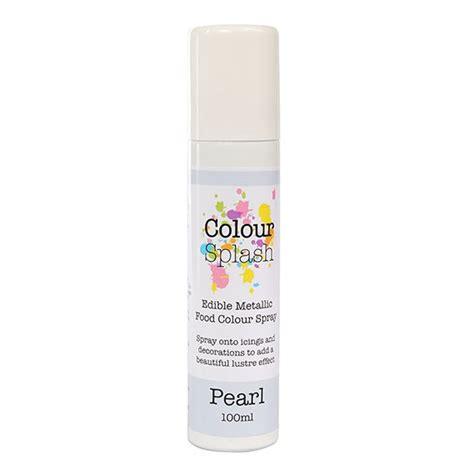 colour splash edible food colour spray pearl 100ml cake craft