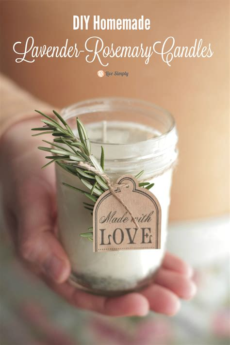 How To Make Handmade Candles - diy candles with lavender rosemary scent