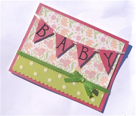 Handmade Baby Card - baby shower handmade card ideas let s celebrate