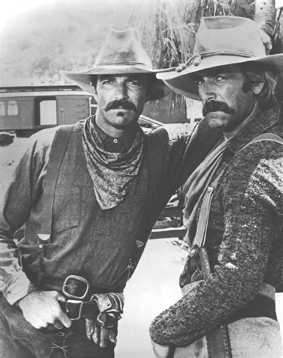 film cowboy chuck norris tom selleck and sam elliot mustache serious face