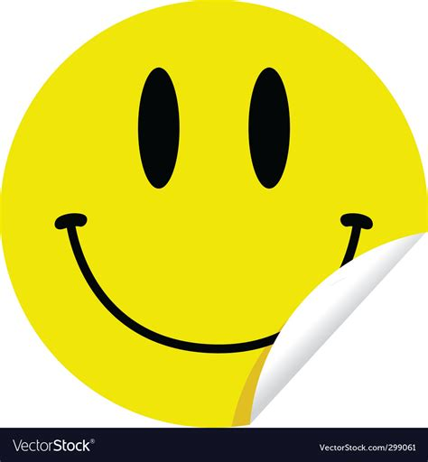 Sticker Smileys by Smiley Sticker Royalty Free Vector Image Vectorstock
