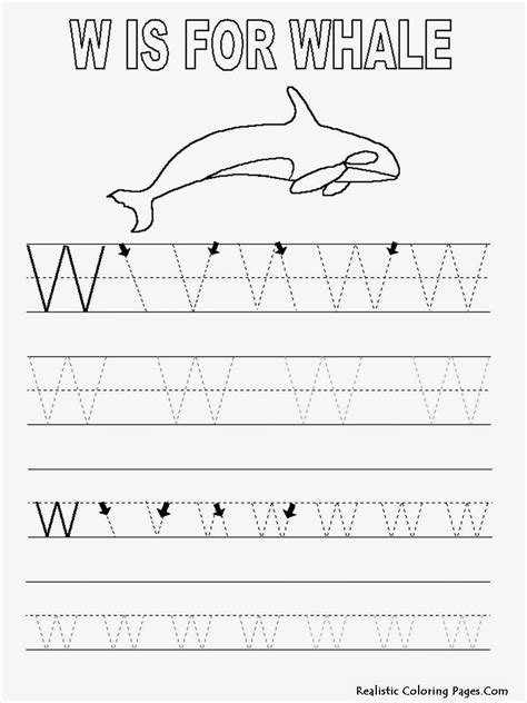 Free W Coloring Pages by W Is For Whale Coloring Page Coloring Home
