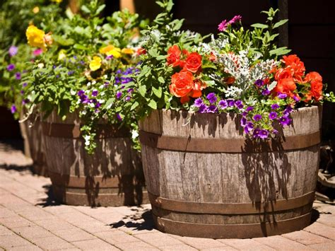 Flower Planters by Wildly Whimsical Barrel Planter Ideas Garden Club