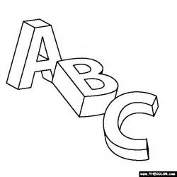 Alphabet Online Coloring Pages  Page 1 sketch template