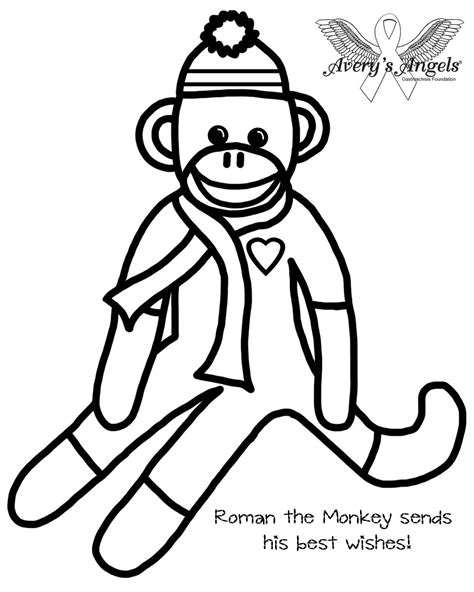 coloring pages sock monkey sock monkey coloring pages printable coloring image