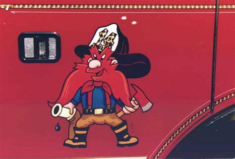 yosemite sam boat gold leaf man fire and rescue vehicles
