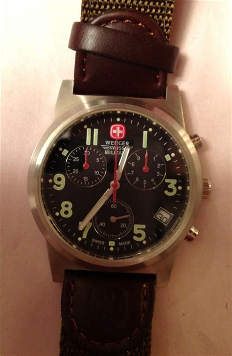 Swiss Army Original Sa2278 Leather Krem Black wenger swiss army black leather chronograph field 79110 ebay