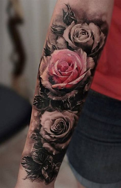 roses sleeve tattoos 100 of most beautiful floral tattoos ideas mybodiart