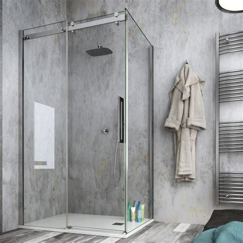 doccia design moderno box doccia 70x100 angolare cristallo anticalcare 8 mm