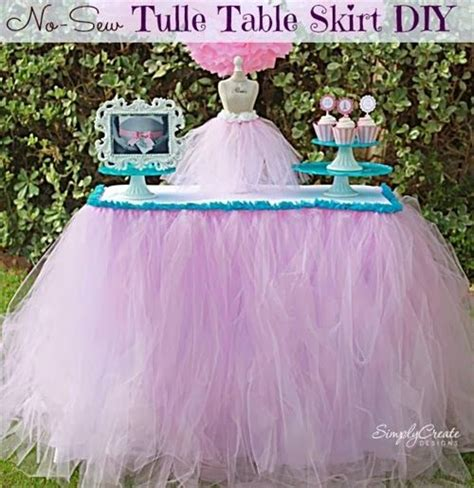 How To Make A Tulle Table Skirt by How To Make A Tulle Table Skirt 101 Diy And Crafts
