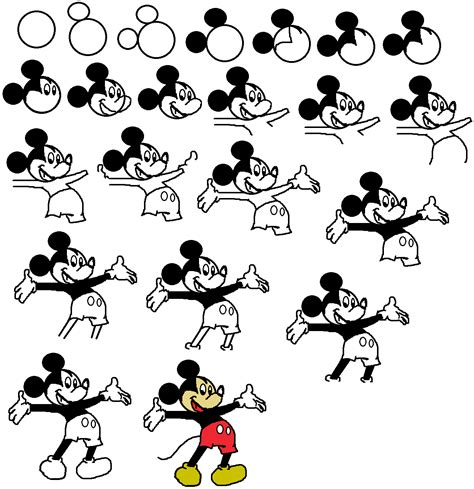 how to a step by step step by step drawing disney characters how to draw goofy easy stepstep disney
