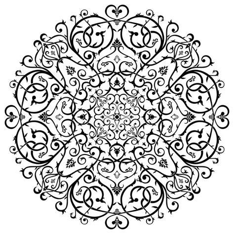 batik ornament wallpaper arabic batik circle floral pattern ornament stock