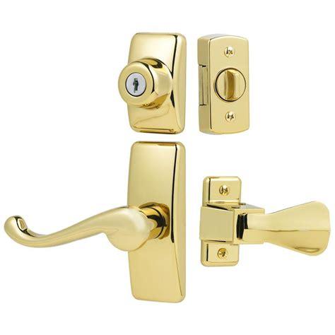 door lock stom door ideal security deluxe and screen door lever handle