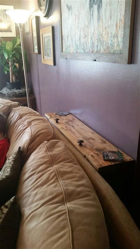 sofa with charging station pallet behind sofa table pallet furniture plans