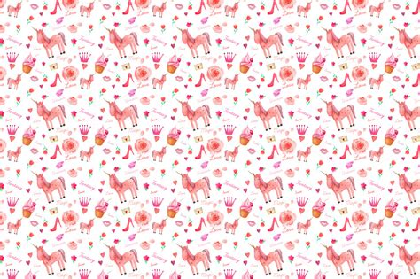 printable unicorn pattern unicorn pattern patterns on creative market