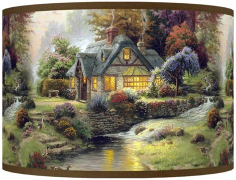 Kinkade Stillwater Cottage by Cottage Kinkade Painting Hd Desktop Wallpapers