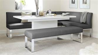 Seater left hand corner bench and extending dining table