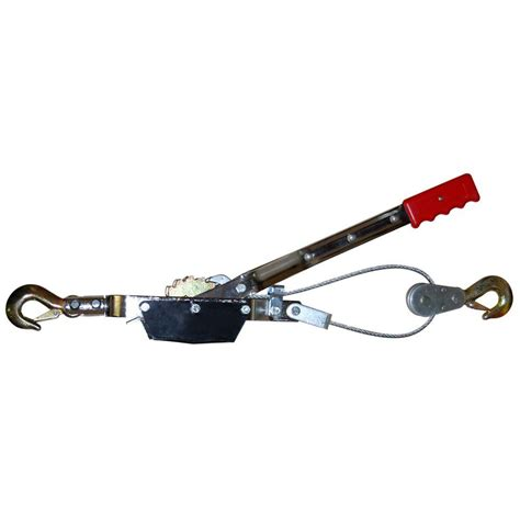 big 2 ton come along cable puller with 2 hooks tr8021