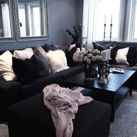 black and grey living room designs best 25 black living rooms ideas on black lively black decor and sofa for