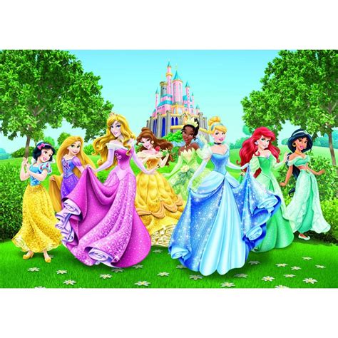 Hello Kitty Wall Mural disney princesses and castle wallpaper great
