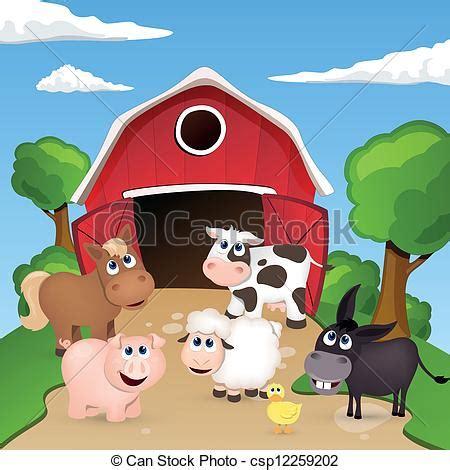 Small Farmhouse House Plans Vector Clipart Of Vector Farm Animals Vector
