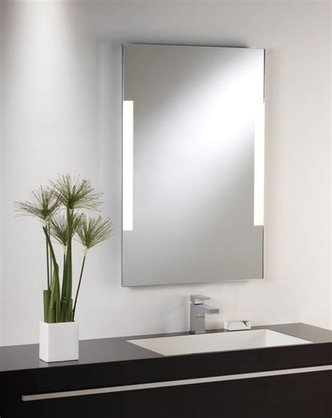 bathroom mirror side lights shallow profile illuminated mirror
