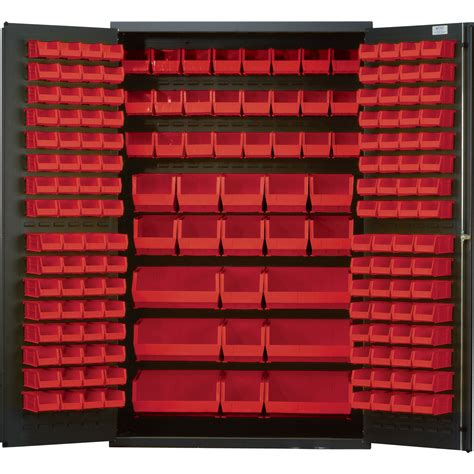 Quantum Storage Cabinet Quantum Storage Cabinet With 171 Bins 48in X 24in X 78in Size Northern Tool Equipment