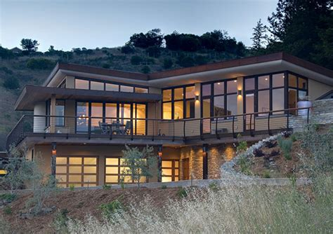 passive solar home designs hillside
