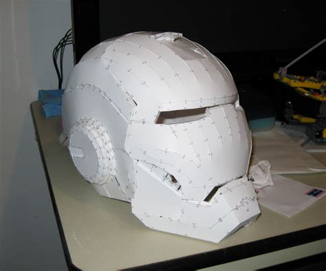 How To Make A Helmet Out Of Paper - iron white paper helmet blank white diy paper