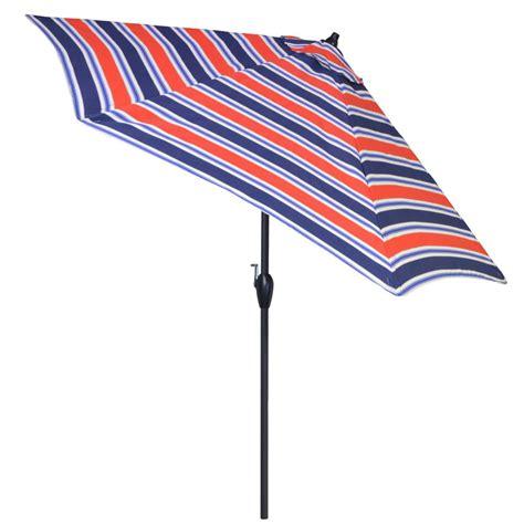 Striped Patio Umbrella 9 Ft Plantation Patterns 9 Ft Aluminum Patio Umbrella In Poolside Stripe With Tilt 9900 01218300