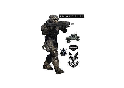 halo wall stickers noble six halo reach wall decal shop fathead 174 for halo