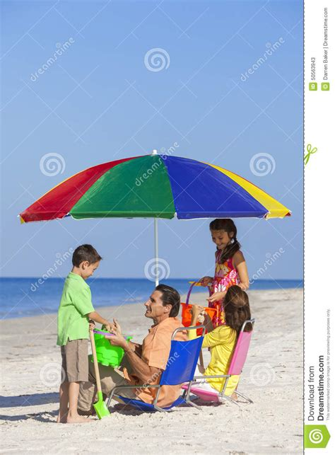 or shine my fathers umbrella how are fathers children family on stock photo
