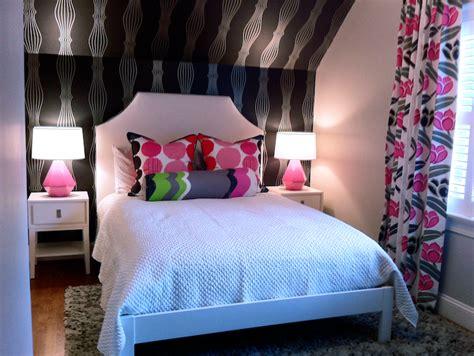 teen attic bedroom black and pink teen room contemporary girl s room