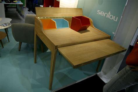 sentou bureau bureau en bois design avec rallonge hansen family remix