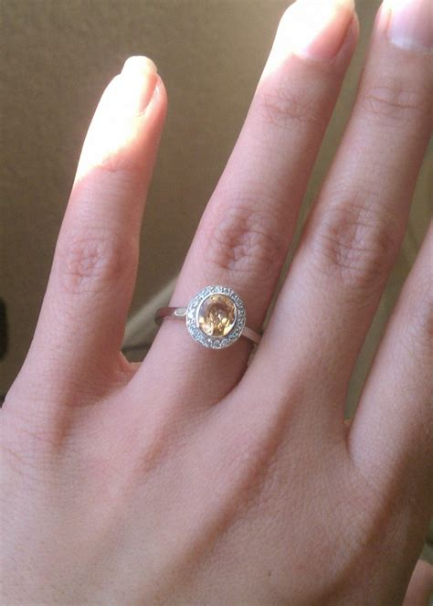 simply stunning yellow sapphire engagement ring the