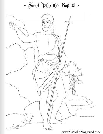 coloring pages of john the baptist as a baby saint john the baptist catholic coloring page feast day
