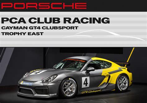 porsche racing logo pca racing to host porsche cayman gt4 clubsport