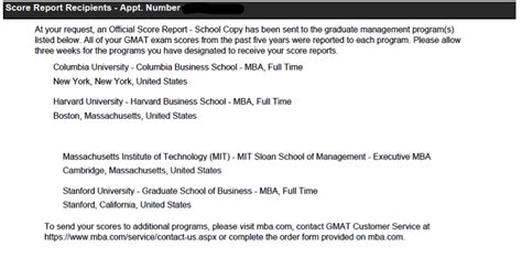 Mba Gmat Enhanced Score Report by Official Gmat Score Report Question Reportspdf819 Web