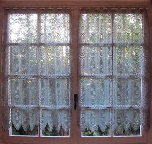 Lace Curtains For Kitchen by Argento Grigio Cucina Tende Pannelli Di Pizzo Shabby Chic